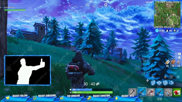 ✅[BLUE] VICTORY ROYALE 2018 - STREAM OVERLAY