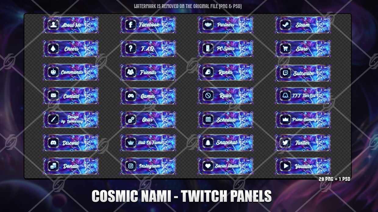 💫COSMIC NAMI - TWITCH PANELS