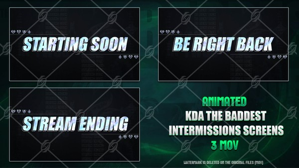 🎙️🎞️KDA THE BADDEST - ANIMATED INTERMISSIONS SCREENS