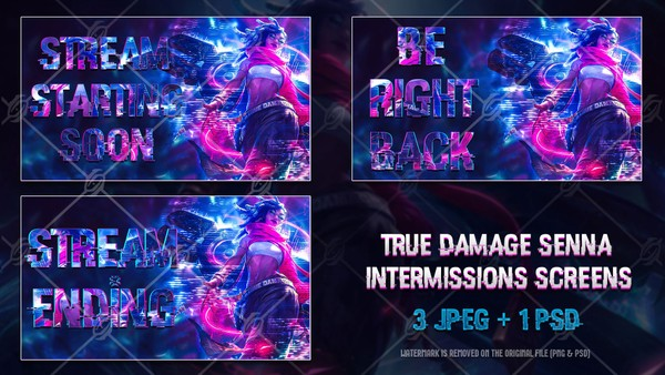✅TRUE DAMAGE SENNA - INTERMISSIONS SCREENS