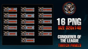 CONQUERER OF THE LEAGUE - TWITCH PANELS