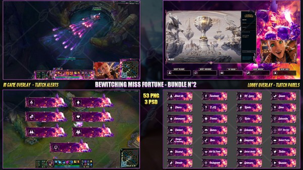 🔥 BEWITCHING MISS FORTUNE - STREAM BUNDLE #2 [53 PNG + 3 PSD]
