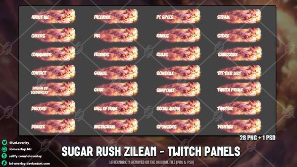 ✅SUGAR RUSH ZILEAN - TWITCH PANELS