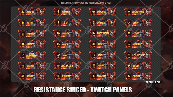 ✅RESISTANCE SINGED - TWITCH PANELS