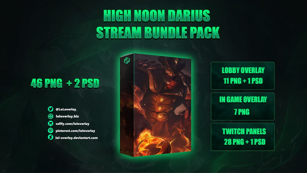 🔥HIGH NOON DARIUS - STREAM BUNDLE [46 PNG + 2 PSD]