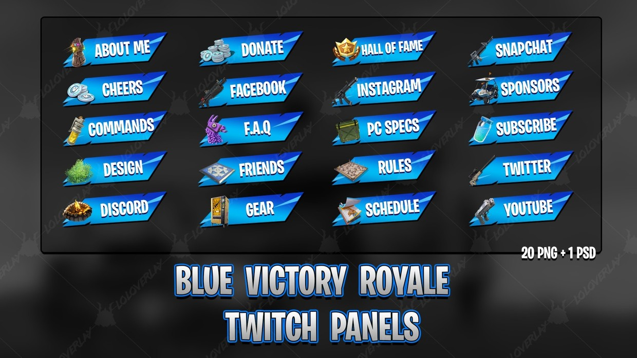 ✅[BLUE] VICTORY ROYALE 2018 - TWITCH PANELS
