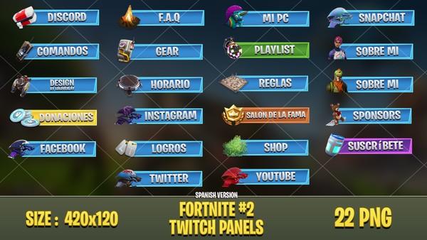 [SPA] FORTNITE - TWITCH PANELS #2