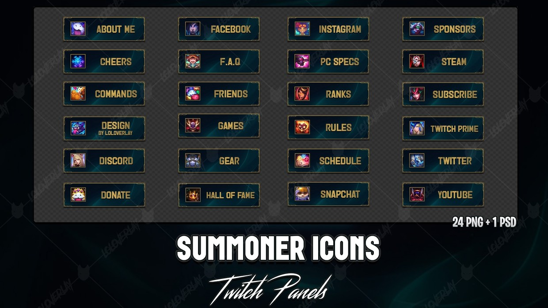 ✅ SUMMONER ICONS - TWITCH PANELS