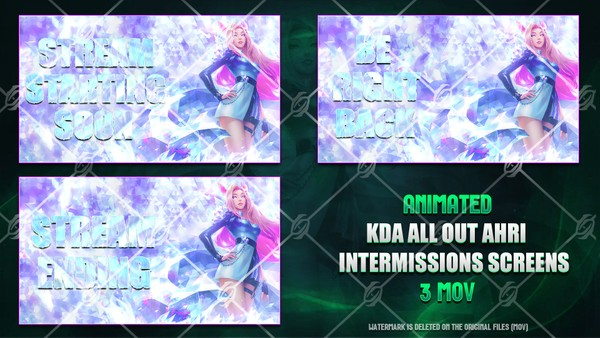 🎙️🎞️KDA ALL OUT AHRI - ANIMATED INTERMISSIONS SCREENS
