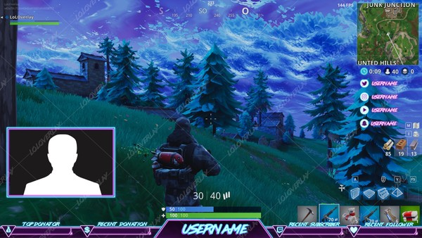 RETRO ARCADE - FORTNITE STREAM OVERLAY #7