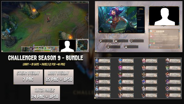 🔥 CHALLENGER SEASON 9 - BUNDLE [46 PNG + 2 PSD]