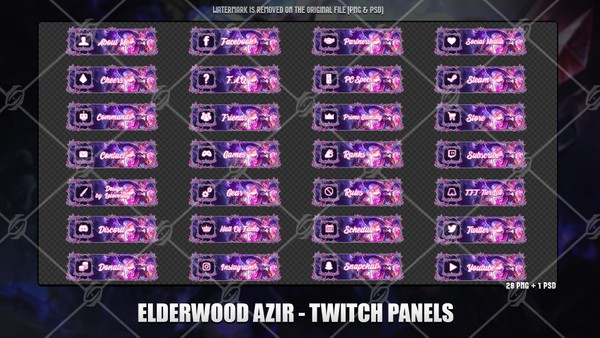 🍁ELDERWOOD AZIR - TWITCH PANELS