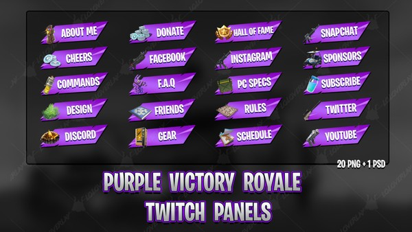 ✅[PURPLE] VICTORY ROYALE 2018 - TWITCH PANELS