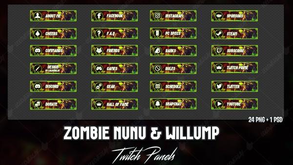 ✅ ZOMBIE NUNU & WILLUMP - TWITCH PANELS