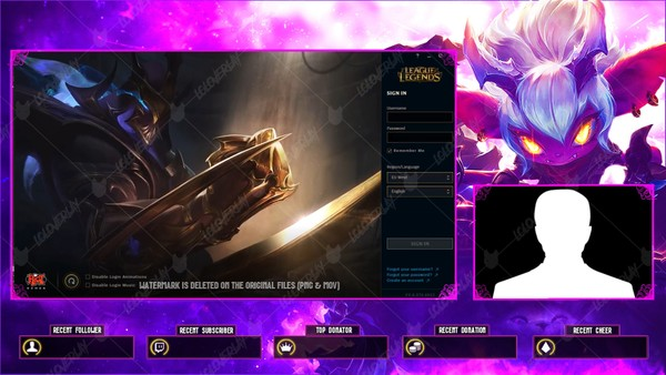 ✅💜🎞️ LITTLE DEMON TRISTANA - LOBBY OVERLAY [ANIMATED]