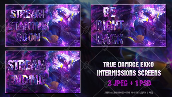 ✅ TRUE DAMAGE EKKO - INTERMISSIONS SCREENS
