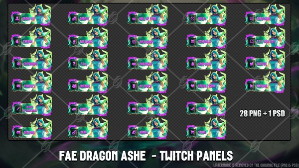 🐉 FAE DRAGON ASHE - TWITCH PANELS
