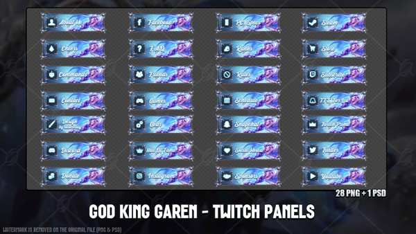 ✅ GOD KING GAREN - TWITCH PANELS