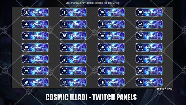 💫COSMIC ILLAOI - TWITCH PANELS