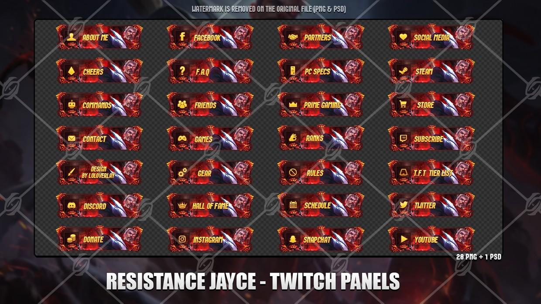 ✅RESISTRANCE JAYCE - TWITCH PANELS