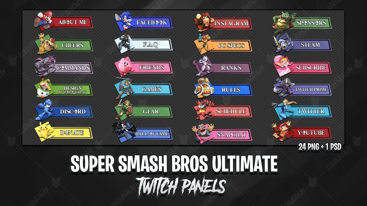 ✅  SUPER SMASH BROS ULTIMATE - TWITCH PANELS