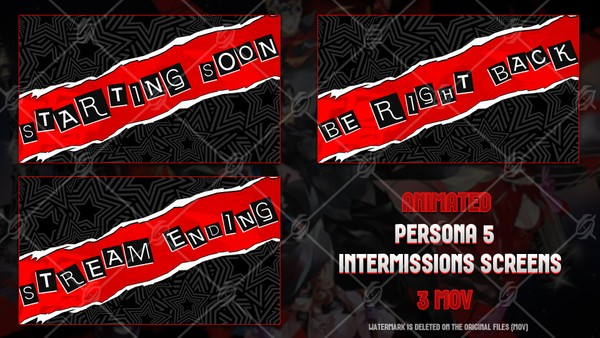 ✅🎞️PERSONA 5  - ANIMATED INTERMISSIONS SCREENS