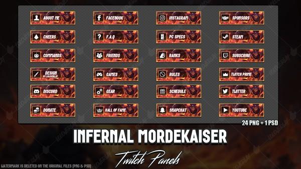 ✅ INFERNAL MORDEKAISER - TWITCH PANELS