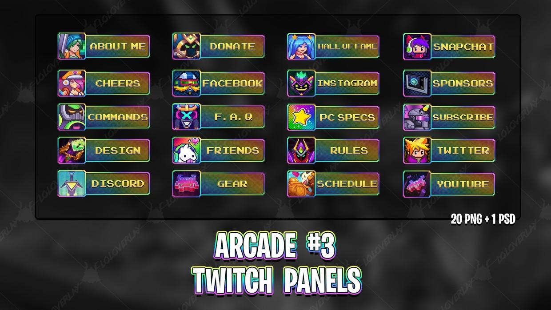 ✅ ARCADE #3 - TWITCH PANELS