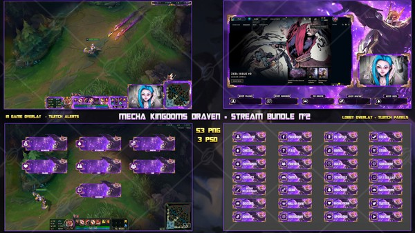 🔥 MECHA KINGDOMS DRAVEN - STREAM BUNDLE #2 [53 PNG + 3 PSD]
