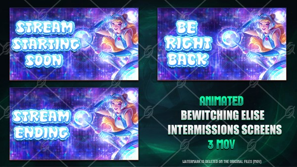 🌠🎞️SPACE GROOVE LUX - ANIMATED INTERMISSIONS SCREENS
