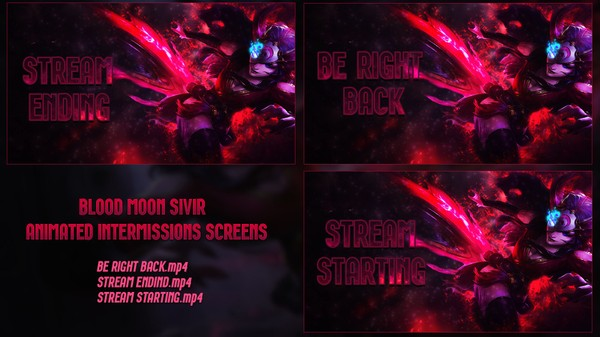 👌🔥 [ANIMATED] BLOOD MOON SIVIR -  INTERMISSIONS SCREENS
