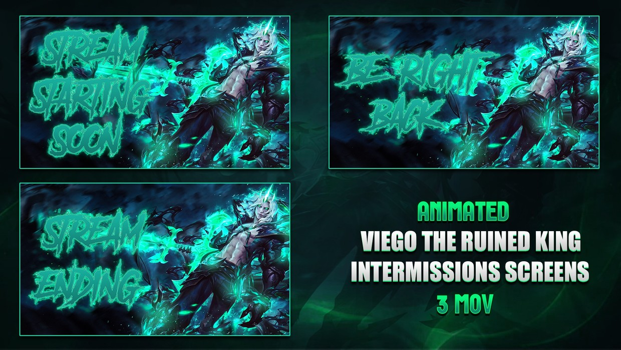 👑VIEGO THE RUINED KING - ANIMATED INTERMISSIONS SCREENS