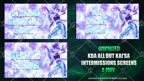 🎙️🎞️KDA ALL OUT KAI'SA - ANIMATED INTERMISSIONS SCREENS