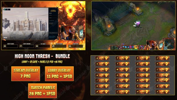 🔥 HIGH NOON THRESH  - STREAM BUNDLE [46 PNG + 2 PSD]