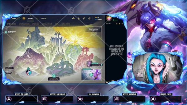 🌸SPIRIT BLOSSOM KINDRED - LOBBY OVERLAY