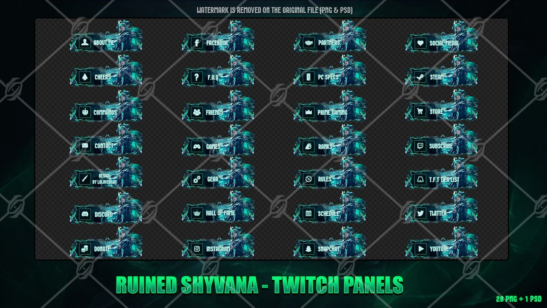 ☠️RUINED SHYVANA - TWITCH PANELS