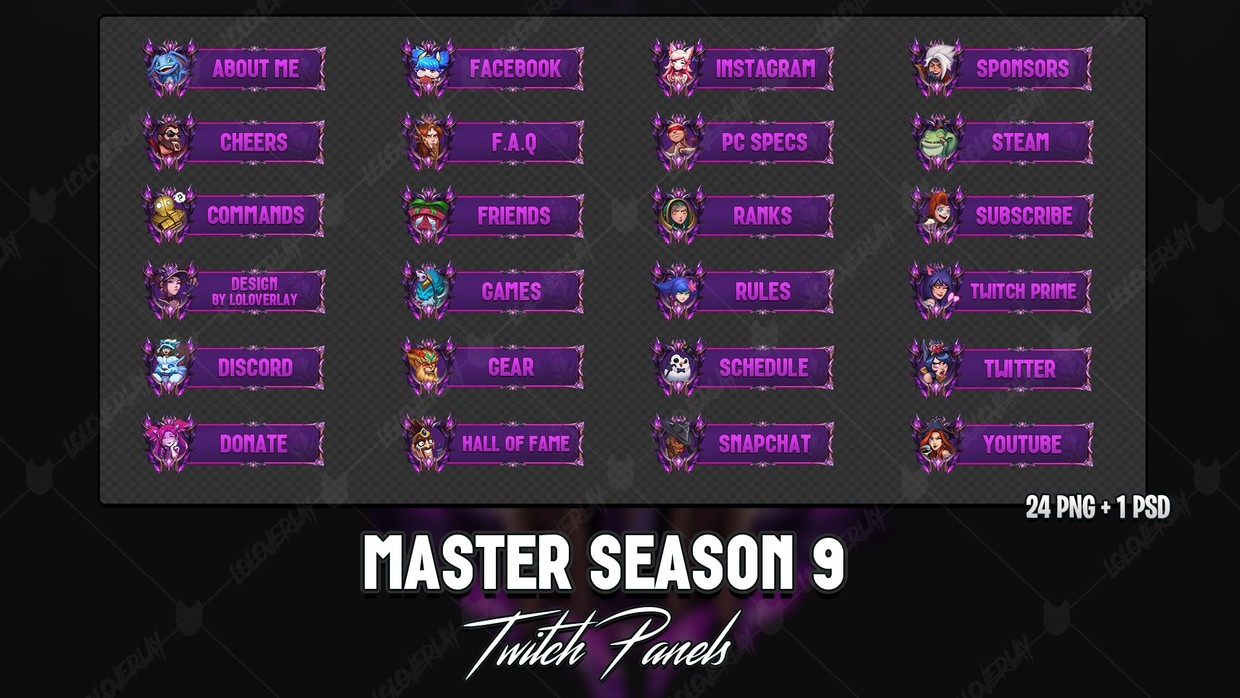 ✅ MASTER SEASON 9 - TWITCH PANELS