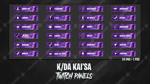 ✅ KDA KAI'SA - TWITCH PANELS