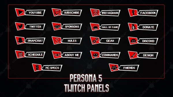 ✅  PERSONA 5 - TWITCH PANELS