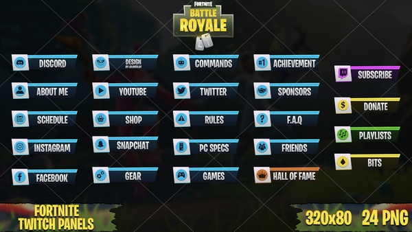 ✅ FORTNITE - TWITCH PANELS #3
