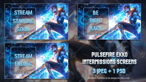 ✅PULSEFIRE EKKO - INTERMISSIONS SCREENS