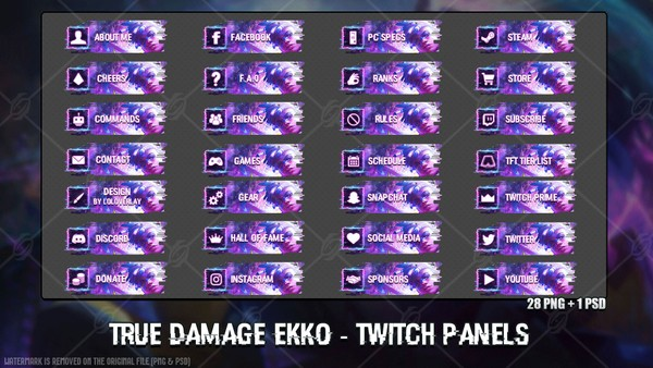 ✅ TRUE DAMAGE EKKO - TWITCH PANELS