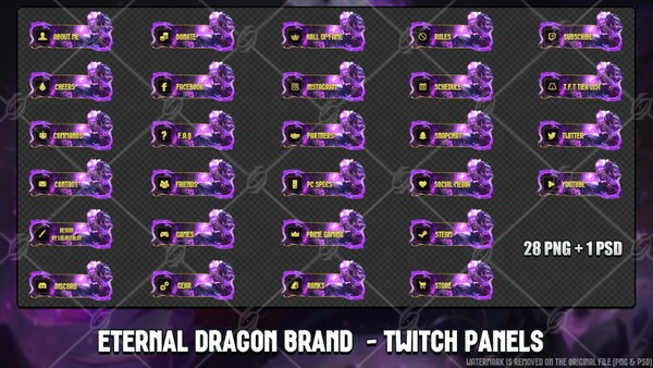 🐉ETERNAL DRAGON BRAND - TWITCH PANELS