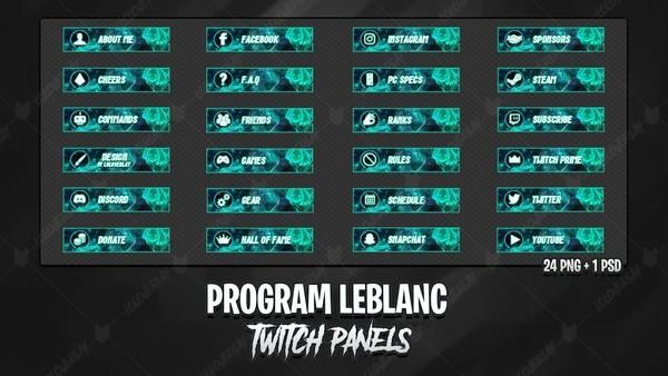 ✅ PROGRAM LEBLANC - TWITCH PANELS