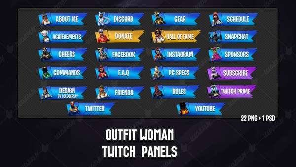 ✅ OUTFIT WOMAN - TWITCH PANELS