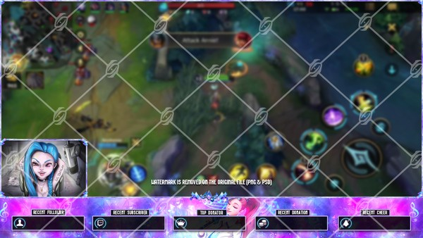 🎙️KDA ALL OUT SERAPHINE RISING STAR  - WILD RIFT OVERLAY