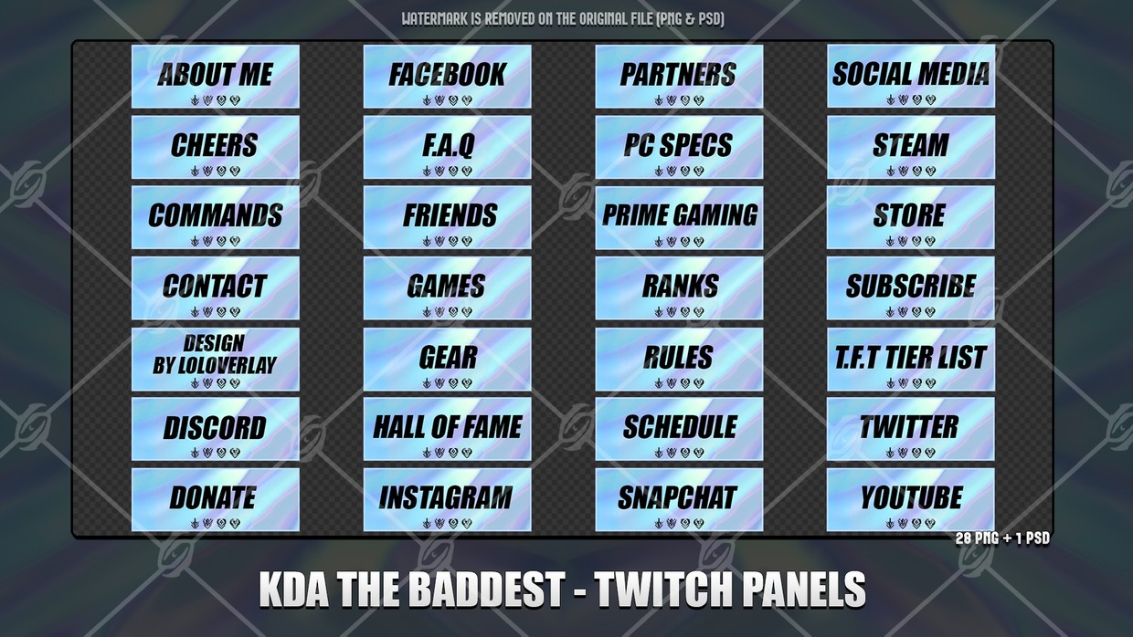 🎙️KDA THE BADDEST - TWITCH PANELS