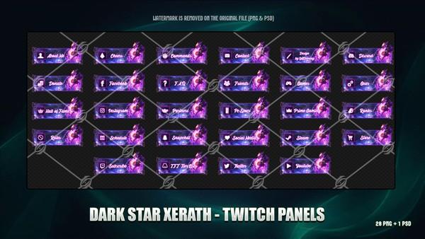 ✅ DARK STAR XERATH - TWITCH PANELS
