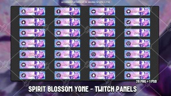 🌸SPIRIT BLOSSOM YONE - TWITCH PANELS