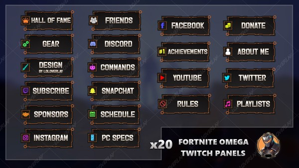 FORTNITE OMEGA - TWITCH PANELS
